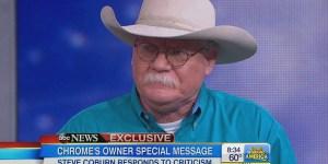 California Chrome owner Steve Colborn says he's ashamed of his behavior, breaks down in tears on GMA