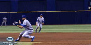Kevin Kiermaier Hit a Ball So Hard It Went Right Through Eric Hosmer's Glove