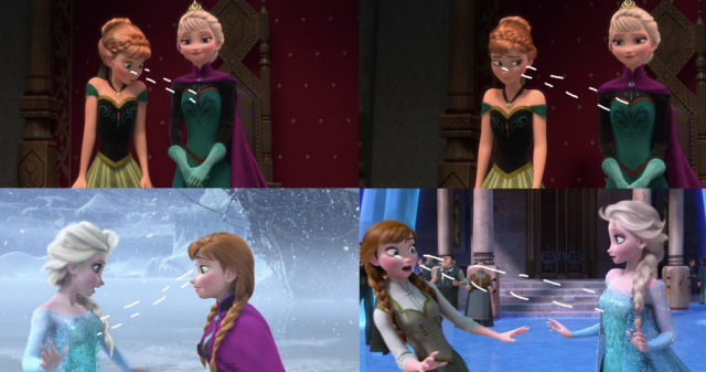 elsa-anna-frozen-cleavage
