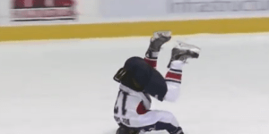Australian Hockey Player Celebrates Game-Winning Goal by Sliding on His Head