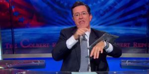 Forget The iPhone 6, We Should All Be Buying Stephen Colbert's Apple WristPad