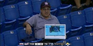 Tampa Bay Rays Fan Uses Laptop to Sneak Buddy Into Game for Free