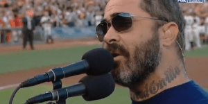 Staind Lead Singer Aaron Lewis Has Had Trouble With The National Anthem In The Past