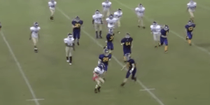 Behold The Greatest Stiff Arm In The History Of Pee-Wee Football