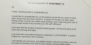 Guy Leaves Angry Letter On Door Because He's Tired Of Hearing His Neighbor Fuck Like A Cocaine-Fueled Rhino At 3AM