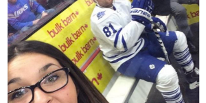 Chick Takes Amazing Penalty Box Selfie With Phil Kessel