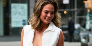 Chrissy Teigen's Boobs Damn Near Fell Out Of Her Shirt On The Streets Of New York