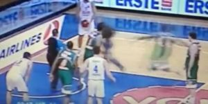 Turkish Basketball Player Delivers Life-Ruining Clothesline To Court Invader