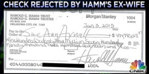 This Is What A Real $975mil Check Looks Like And The Ex-Wife Who Rejected It Because THAT'S NOT ENOUGH MONEY