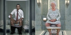Artist Creates Beautiful Photos Of Obama And Other World Leaders Taking A Dump Because Art