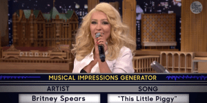 Christina Aguilera Sang 'This Little Piggy' As Britney Spears And It Was Good. Like, Really Good.