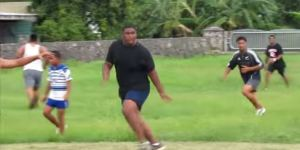 Video Exists Of Giant BYU Recruit Motekiai Langi Playing 'Football' And You Must See It