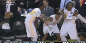 VCU Bench Goes Bonkers After Walk-On Torey Burston Sinks Garbage-Time 3