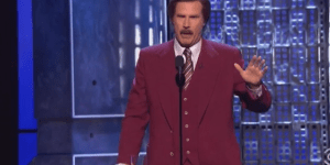 Will Ferrell Dressed Up As Ron Burgundy And 'Stayed Classy' At Comedy Central's Roast Of Justin Bieber