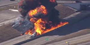 Ever Wonder What It Looks Like When A Gasoline Tanker Explodes?
