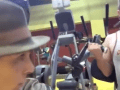 College Guy Goes To USC's Gym Dressed As Safari Guide, Rips On All The Frat Bros Lifting Weights