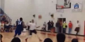 Former Harlem Globetrotter Angelo Sharpless Bounced Himself An Alley-Oop And It Is Insane