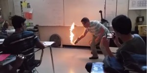 Chillax High School Teacher Sets Classroom Floor On Fire For Science