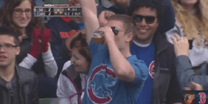 Another Cubs Fan Catches Foul Ball In Cup Of Beer And Chugs It