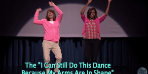 Jimmy Fallon And Michelle Obama Unloaded Part 2 Of 'The Evolution Of Mom Dancing' On The World Last Night