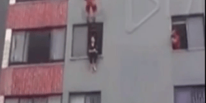 Firefighter Saves Suicide Jumper's Life With An Epic Dropkick To The Chest