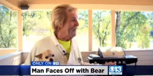 Old Ass Man Straight Punches A Bear In The Face For Stepping To His Dog