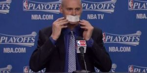 Rick Carlisle Taped His Mouth Shut When Asked About The Officiating To Avoid A Fine
