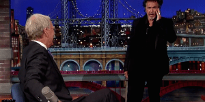 Al Pacino Wanders Onto Stage At 'Late Show', Makes Odd Request Of David Letterman, Acts As Nuts As Ever