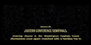 The Capitals Used A Star Wars-Style Scroll To Tell The Story Of Their Series With The Rangers Before Game Three