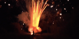 This Bro Shot Off 300 Fireworks At Once And My Own Rocket Just Went From Six To Midnight