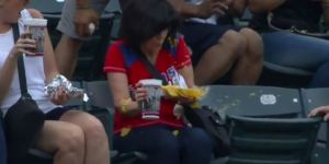 Foul Ball Lands In Woman's Nachos, Blasts Liquid Cheese Into Her Face