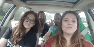 Watch Hipsters Almost Wreck A Car/Explode Because They Were Too Busy Doing A Singalong With A Selfie Stick To Drive