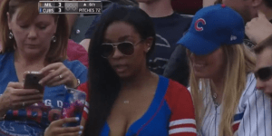Watch This Woman Get Caught Taking The Most Embarrassingly Shameless Selfie At A Cubs Game