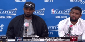 Things Got Awkward When A  Reporter Asked LeBron To Criticize Kyrie Irving While He Was Sitting Right Next To Him
