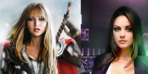 Artist Gender Swaps 'The Avengers' And Jennifer Lawrence As Thor Is Bringing The Thunder In My Pants