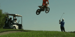 Motocross Star Ronnie Renner Thrashes Golf Course With Dirt Bike