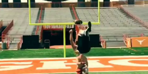 Texas Kicker Nick Rose Made One Of The Greatest Field Goals Of All-Time