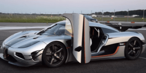 Car That Looks Like A Spaceship From The Year 3000 Set A New 0-To-186 MPH World Record