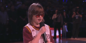 Blind Teen With Cerebral Palsy  Absolutely Crushes National Anthem Before Game 6 Of The NBA Finals