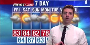 Weatherman Doing The Weekend Forecast Loses It When He Remembers He Has To Go To Brunch With His Girlfriend