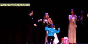 This 9-Year-Old Who Proposed To A Beauty Queen On Stage Has Bigger Cahones Than Everyone I Know