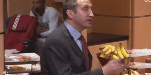 J.R. Smith Caught Sleeping During Coach David Blatt's Halftime Speech