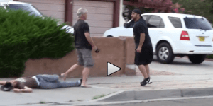 Guy Pulls Gun On Guy, Guy Comes To His House And Knocks Guy Out Cold In One Brutal Punch
