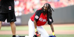 Snoop Dogg's Attempt At Robbing Vlad Guerrero's Home Run In The Celebrity All-Star Game Could Have Gone Better