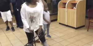 Girl Fight At Popeye's Restaurant Escalates Into An ECW Match After People Start Taking Chairshots