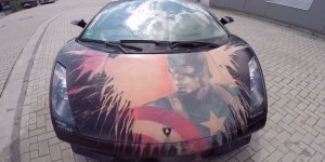 How Sick Is This Lambo That Changes To Captain America Paint Job Simply From Heat