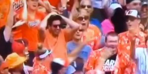 Orioles Fan Loses Home Run Ball While Going HAM To Celebrate