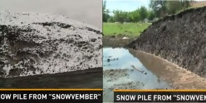 That Massive Snow Pile In Buffalo STILL Hasn't Melted After Eight Months