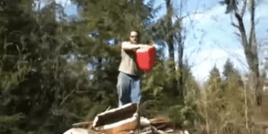 Redneck Blows Up Into Fiery Ball Of Flame Using Pile Of Wood And A Canister Of Gasoline