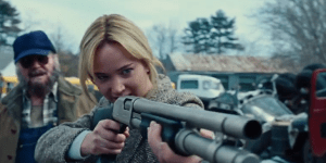 How Hot Does Jennifer Lawrence Look Shooting A Pump-Action Shotgun?!?!